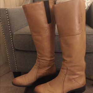 Franco Sarto Camel leather tall boots size 6.5
